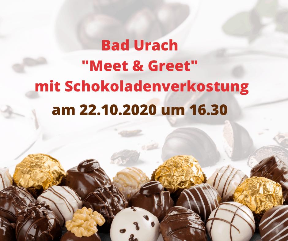 bad-urach-meet-greet-mit-schokoladenverkostung in Bad Urach am 22.10.2020 um 16.30 Uhr