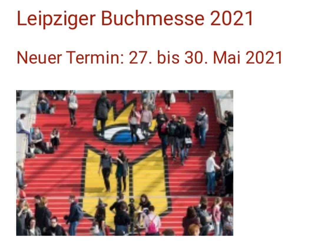 Leipziger Buchmesse - neuer Termin 27.05 - 30.05.2021